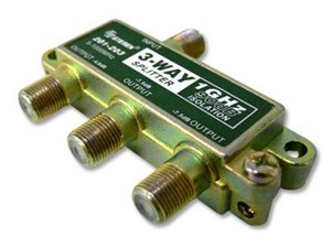 Picture of Coaxial Splitter - CATV F-Type - 3 Way - 1GHz 90dB