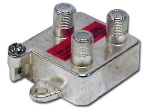 Picture of Coaxial Splitter - CATV F-Type - Vertical - 3 Way - 1GHz 130dB