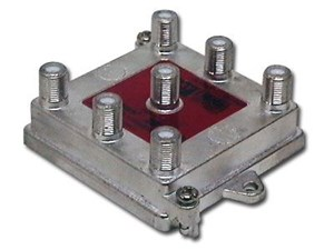 Picture of Coaxial Splitter - CATV F-Type - Vertical - 6 Way - 1GHz 130dB