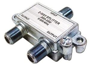 Picture of Coaxial Splitter - MATV F-Type - 2 Way - 900Mhz DC-Passive