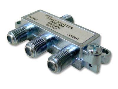 Picture of Coaxial Splitter - MATV F-Type - 3 Way - Mini - 900Mhz DC-Passive