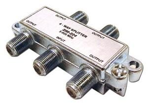 Picture of Coaxial Splitter - MATV F-Type - 4 Way - 900Mhz DC-Passive