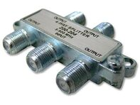 Picture of Coaxial Splitter - MATV F-Type - 4 Way - Mini - 900Mhz DC-Passive