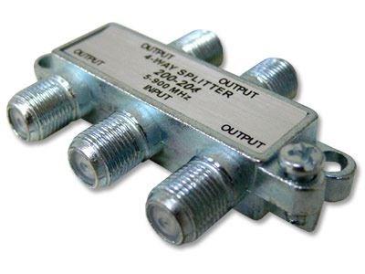 Picture of Coaxial Splitter - MATV F-Type - 4 Way - Mini - 900Mhz DC-Passive