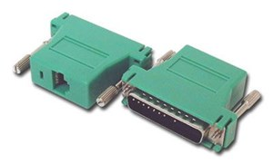 Picture of Modular Adapter Kit - DB25 Male to RJ45 - Green
