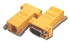 Picture of Modular Adapter Kit - DB9 Male to RJ45 - Yellow