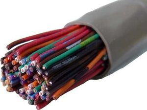 Picture of Category 3 Riser Communications Cable - 50 Pair 24 AWG - Gray PVC - 1000 FT