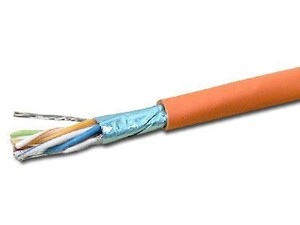 Picture of Shielded DataMax Cat5e Cable - Stranded, ScTP, Orange PVC - 1000 FT