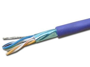 Picture of Shielded DataMax Cat5e Cable - Stranded, ScTP, Purple PVC - 1000 FT