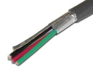 Picture of Sound and Security Cable - Shielded - 4 Conductor 22 AWG - 1000 FT
