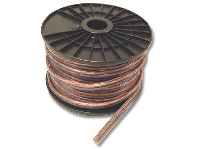 Speaker Wire - 12 Gauge - Clear - 100FT | Computer Cable Store