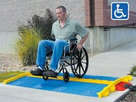 "Picture of ADA Ramp for LINEBACKER GP 1 Channel (1.25"") - Blue"
