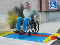 Picture of ADA Ramps for GUARD DOG 3 Channel Drop Over - Blue
