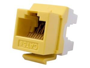 Picture of CAT5e Keystone Jack 180 Degree 110 UTP - Yellow