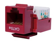 Picture of CAT5e Tool-less Keystone Jack 90 Degree 110 UTP - Red