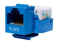 Picture of CAT6 Tool-less Keystone Jack 90 Degree 110 UTP - Blue