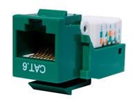 Picture of CAT6 Tool-less Keystone Jack 90 Degree 110 UTP - Green