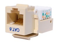 Picture of CAT6 Tool-less Keystone Jack 90 Degree 110 UTP - Ivory