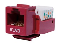 Picture of CAT6 Tool-less Keystone Jack 90 Degree 110 UTP - Red