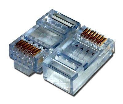 sentinel cat6 modular connectors rj45 100 pack. Black Bedroom Furniture Sets. Home Design Ideas
