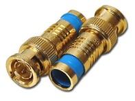 Picture of Gem Compression BNC Connectors - RG6 - Gold Plated - Male - 10 pack