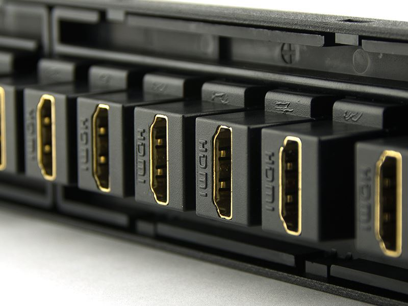 Hdmi High Density Patch Panel 24 Port Computer Cable Store
