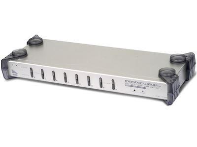 Picture of USB Console KVM Controls 8 Port USB/PS2 Computers w/Cables