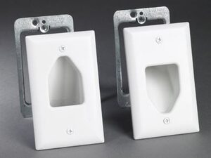 Picture of Recessed Wall Plate Installation Kit - Single Gang - White