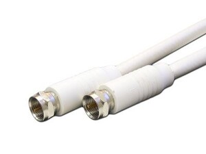 Picture of RG59 Coaxial Patch Cable - 100 FT, F Type, White