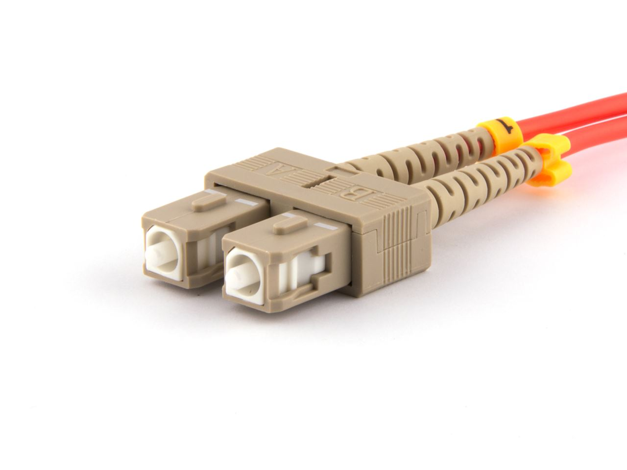 2m Multimode Fiber Optic Cable 50125 Sc To St Computer