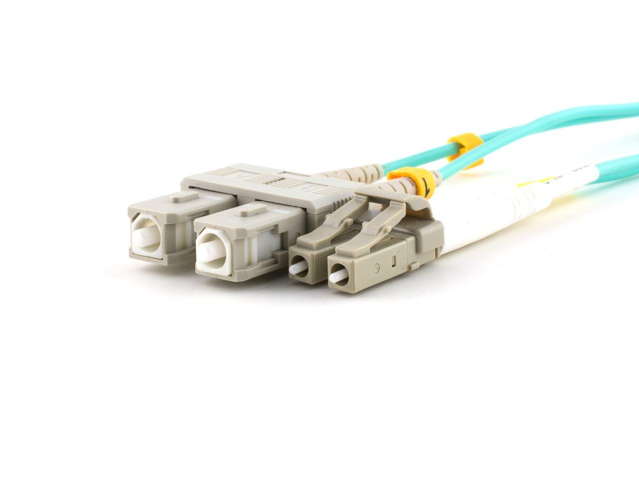 30m Multimode Fiber Optic Cable 50125 Om3 Aqua Laser Opt