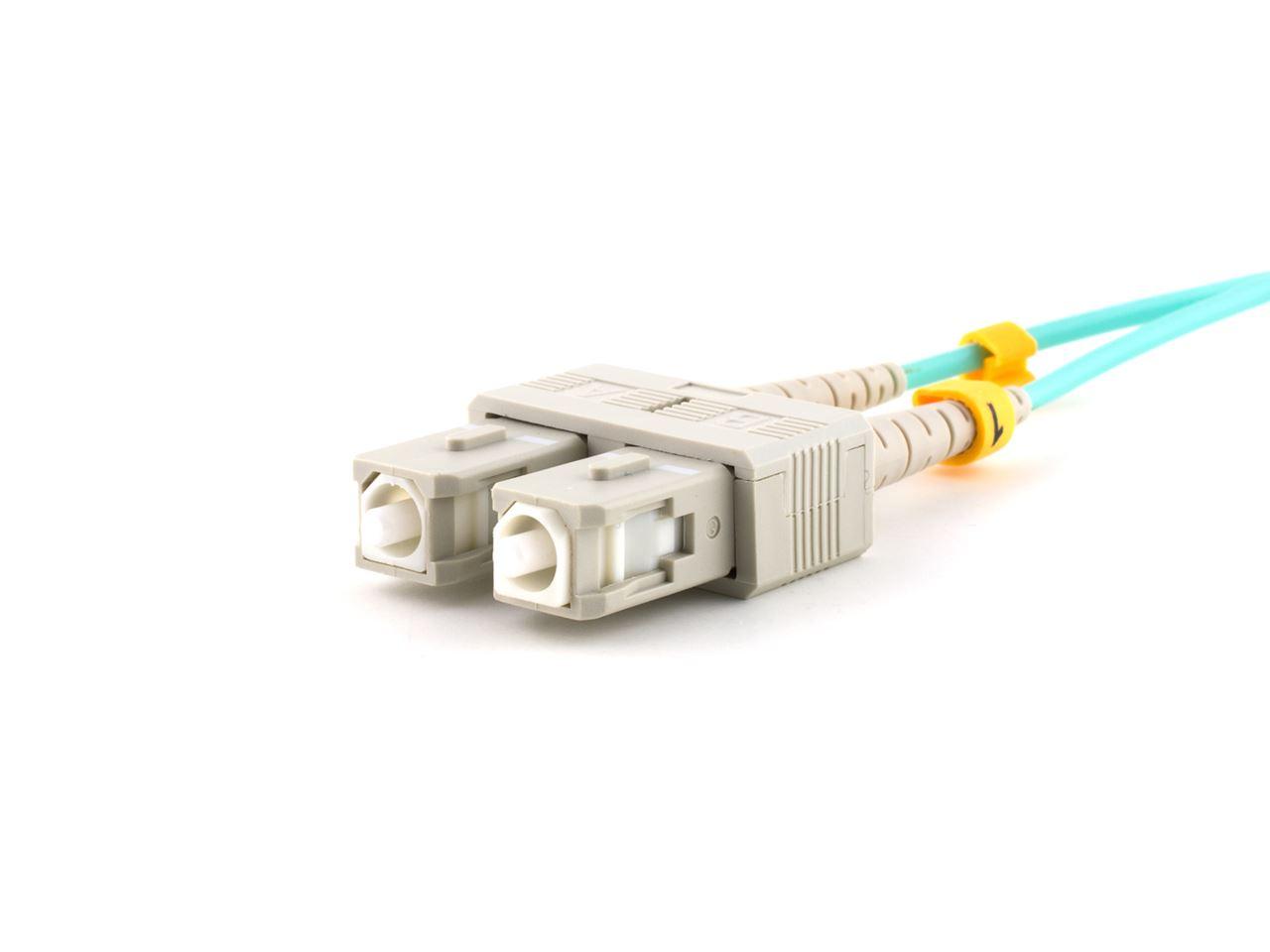 3m Multimode Fiber Optic Cable 50125 Om3 Aqua Laser Opt