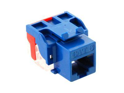 picture of cat 6 modular keystone jack - rj45 (8p8c) ez - blue