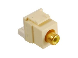 Picture of Module Rca Idc Yellow Insert Almond