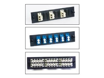 Picture of FiberOpticx Adapter Plate - Quad LC - 24 Port Multimode - Metal Sleeve