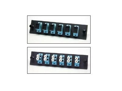 Picture of FiberOpticx Adapter Plate - Dual LC - 6 Port 10 Gig Multimode - Composite Sleeve