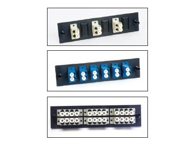 Picture of FiberOpticx Adpater Plate - Dual LC - 6 Port Singlemode - Ceramic Sleeve