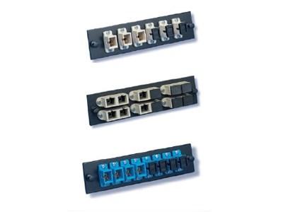Picture of FiberOpticx Adapter Plate - SC - 6 Port Singlemode - Ceramic Sleeve