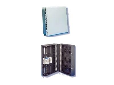 Picture of FiberOpticx Outside Wall Mount Cabinet - 144 Splice Capacity - Black