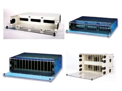 Picture of FiberOpticx Rack Mount Cabinet - 4U with Splice Trays for 144 Splices - Almond
