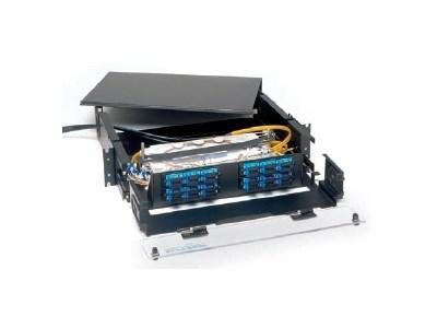 Picture of FiberOpticx Rack Mount Cabinet - 2U 24 Port Capacity with Plexiglas Cover