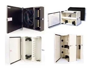 Picture of FiberOpticx Wall Mount Cabinet - 12 Port Capacity - Almond