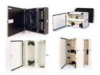 Picture of FiberOpticx Wall Mount Cabinet - 72 Splice Capacity - Black