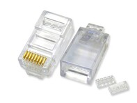 Picture of Stewart Cat5e Connectors with Load Bars - RJ45 - 100 pack