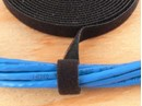Picture of 1/2 Inch Continuous Black Hook and Loop Wrap - 10 Yards
