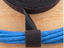 Picture of 3/4 Inch Continuous Black Hook and Loop Wrap - 10 Yards