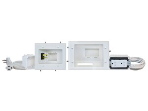 Picture of Flat Panel TV Cable Organizer Kit with Duplex Power Solution