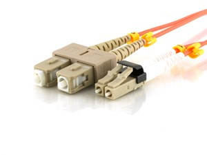 Picture of 30m Multimode Duplex Fiber Optic Patch Cable (62.5/125) - Mini LC to SC
