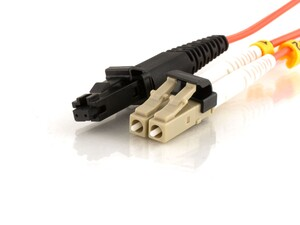 Picture of 10m Multimode Duplex Fiber Optic Patch Cable (50/125) - Mini LC to MTRJ
