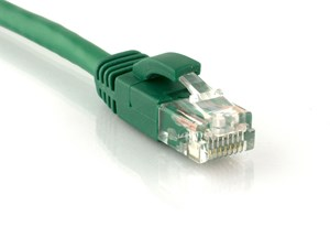 Picture of CAT6 Patch Cable - 2 FT, Green, Booted